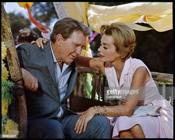 "Burgess Meredith acts opposite Lilli Palmer in this scene from ""Hard Contact"", 1969."