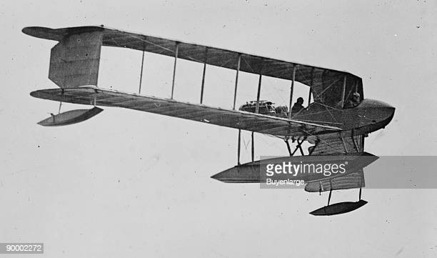 Burgess Sea Biplane of the Naval Militia on its way to Naval Air Station in Pensacola Florida