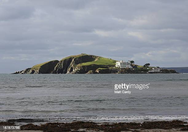 Burgh Island said to be a source of inspiration for Agatha Christie is seen from the beach close to the picturesque seaside village of Bantham on...