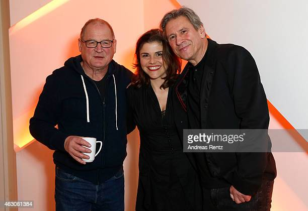 Burghart Klaussner Katharina Wackernagel and a guest attend LOLA at the 65th Berlinale International Film Festival on February 6 2015 in Berlin...