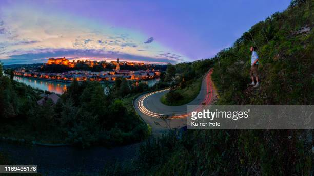 burghausen at sunrise - tourismus stock pictures, royalty-free photos & images