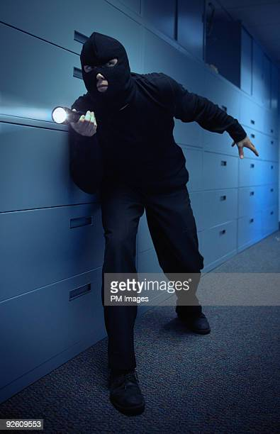 Burglar in office