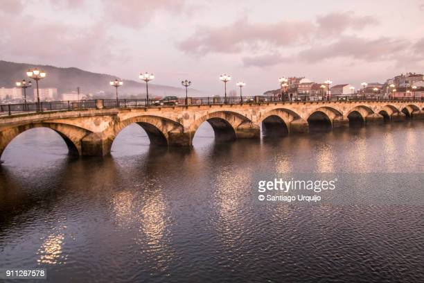 burgo bridge - pontevedra province stock photos and pictures
