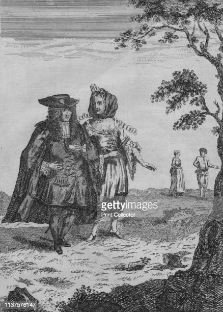 Burgomaster and His Wife', late 17th-early 18th century? A burgermeister, , wearing a frock coat, cloak and hat. His wife wears a low-cut dress and a...