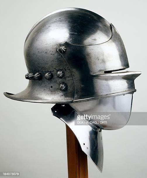 Burgonet helmet ca 1450 which belonged to Ulrich von Matsch IX made in Milan at Da Merate workshop Italy 15th century Sluderno Armeria Trapp Del...