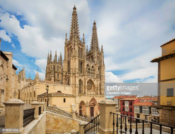 Burgos Burgos Province Castile y Leon Spain The Gothic cathedral Construction began in the 13th century It is a UNESCO World Heritage Site