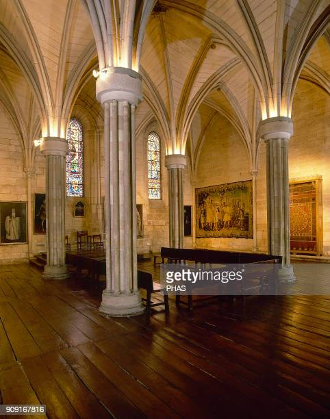 Burgos Castile and Leon Spain Abbey of Santa Maria la Real de Las Huelgas Cistercian monastery It was founded by the KIng Alfonso VIII of Castile in...