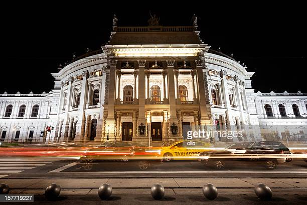 Burgtheater at night. Vienna, Austria