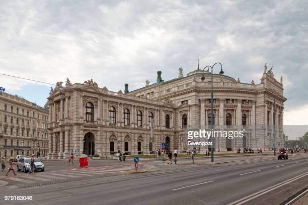 burgtheater in vienna - gwengoat stock pictures, royalty-free photos & images