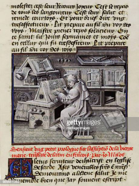 Burgundian scribe ca 1455 Found in the Collection of Bibliothèque Nationale de France