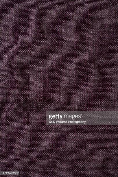 Burgundy hessian tablecloth