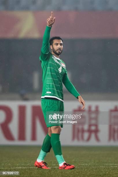 Burhan Jumaah of Iraq gestures during the AFC U23 Championship China 2018 Group C match between Iraq and Jordan at Changshu Sports Center on 16...