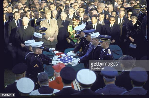 Burial services for Pres John F Kennedy Arlington National Cemetery Va