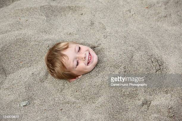 Buried in sand