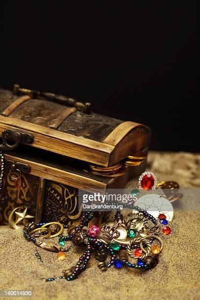 Buried Pirates Treasure Chest