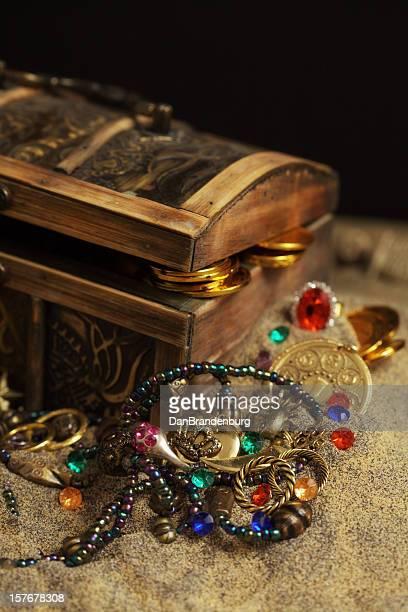 Ensevelies trésor des Pirates de la poitrine