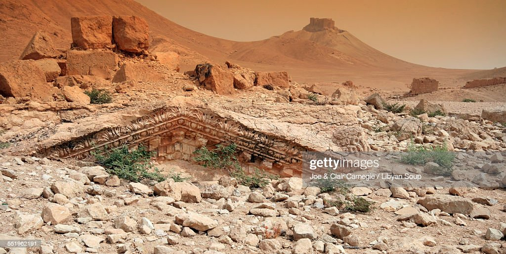 Buried Treasure in Palmyra, Syria : Stock Photo