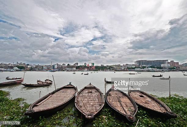 Buriganga River with boat