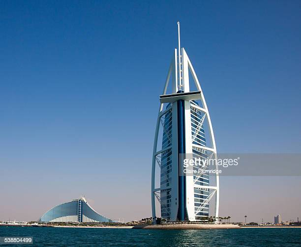 Burj Al Arab 7 star hotel and The Jumeirah Beach Hotel Dubai