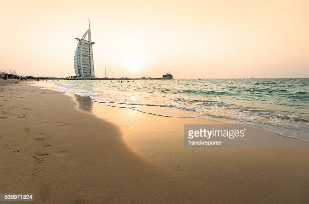burj al arab defocus view at dusk