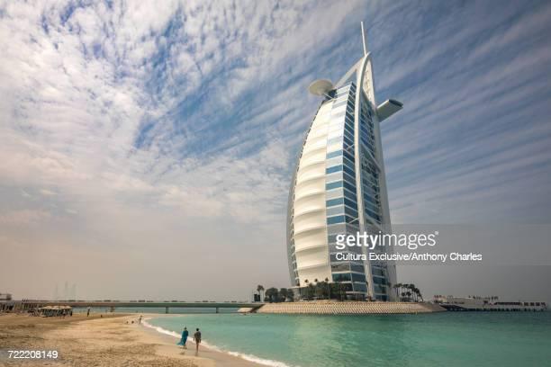 Burj Al Arab hotel and beach, Dubai, United Arab Emirates