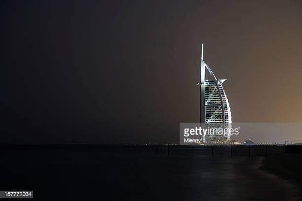 Burj al Arab Hotel at Night Dubai United Arabian Emirates