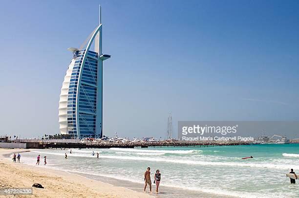 Burj Al Arab hotel by the beach