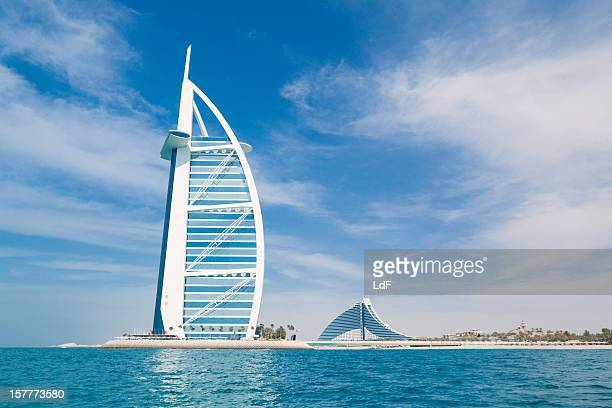 Burj Al Arab Hotel in Dubai from the Sea