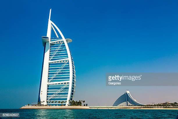 Burj Al Arab Hotel in Dubai aus dem Meer