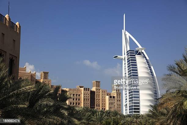 Burj al Arab Hotel with Madinat Jumeirah in front