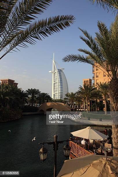 Burj Al Arab view from Madinat Jumeirah Dubai