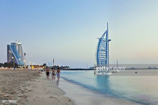 Burj al-Arab and Jumeirah beach in Dubai