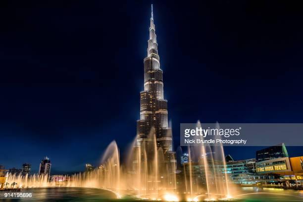 Burj Khalifa At Night, Dubai, United Arab Emirates