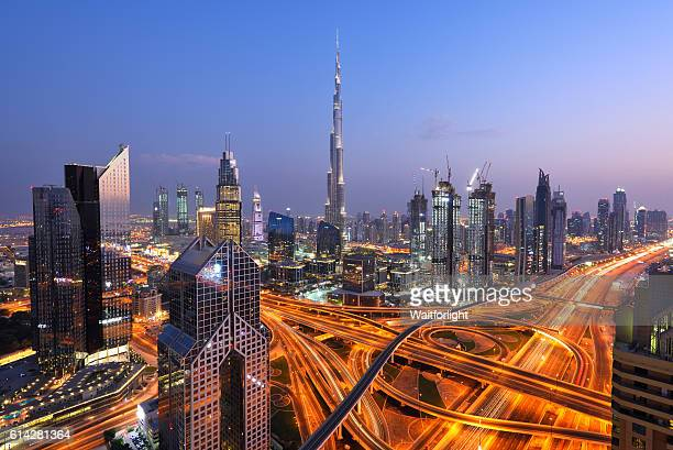 burj khalifa at night - bright colour stock pictures, royalty-free photos & images