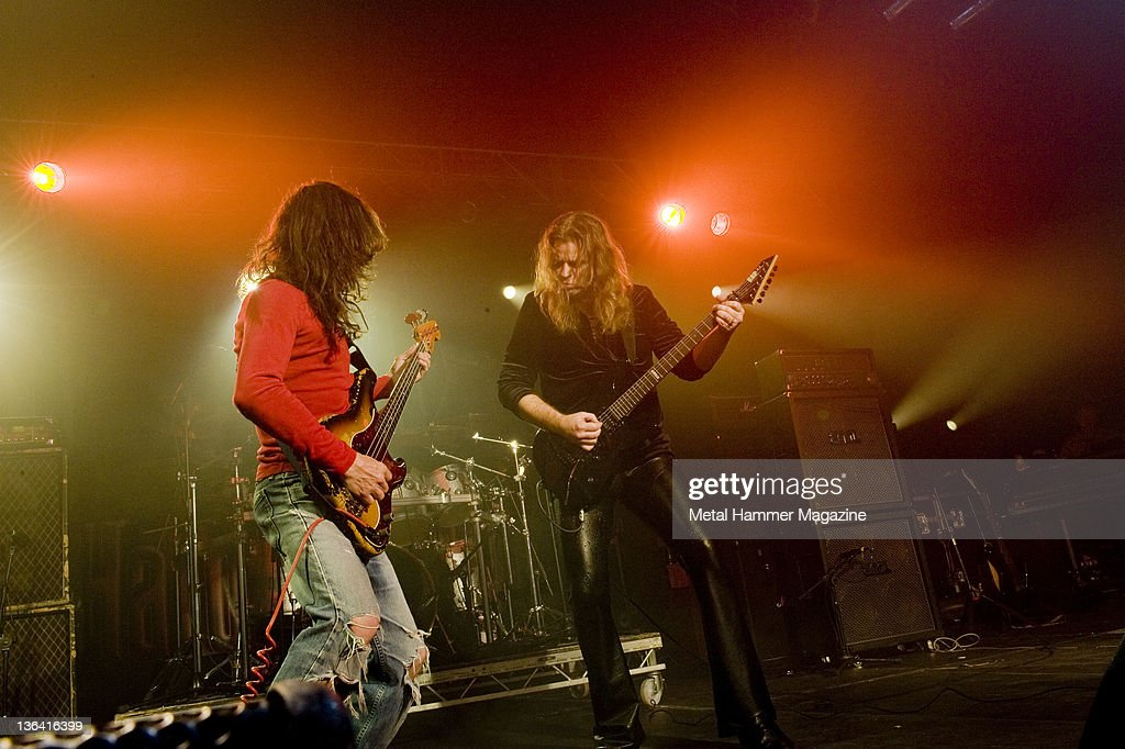 Burke Shelley and Craig Goldy of heavy metal band Budgie