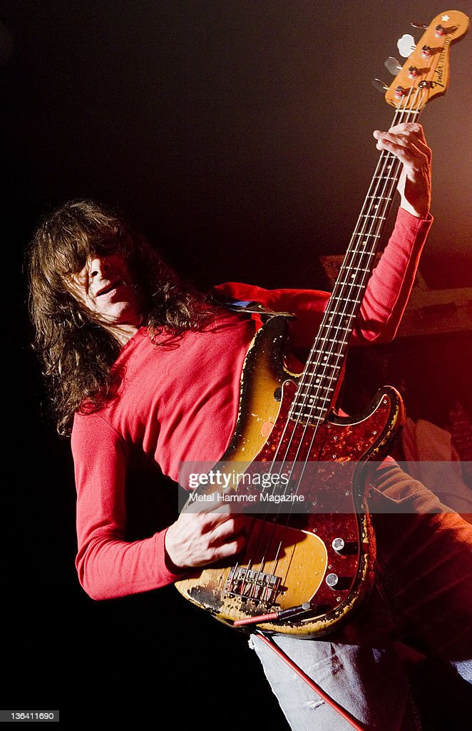 Burke Shelley of heavy metal band Budgie, performing live on
