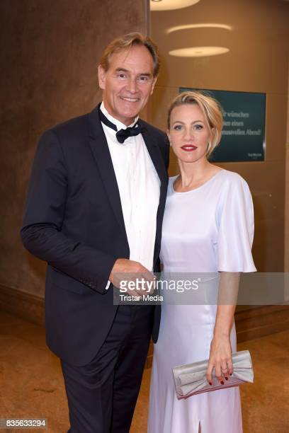 Burkhard Jung and his wife Ayleena Jung attend the GRK Golf Charity Masters evening gala on August 19 2017 in Leipzig Germany