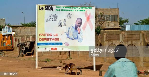 burkina faso - aids hiv warning sign - kaposis sarcoma stock pictures, royalty-free photos & images
