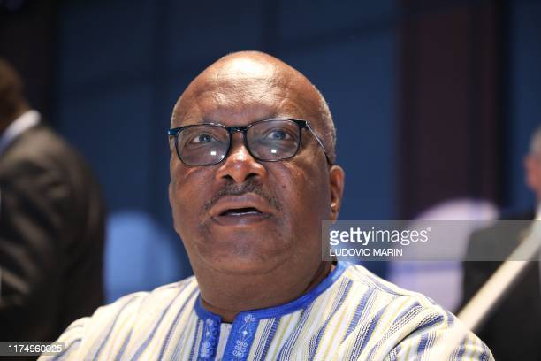 Burkina Faso president Roch Marc Christian Kabore arrives on the second day of the conference of Global Fund to Fight AIDS, tuberculosis and Malaria...