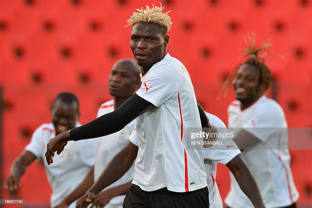 Burkina Faso's Bance Aristide takes part in a training session at the Rand Stadium in Johannesburg on February 8, 2013 as part of the preparation of the 2013 Africa Cup of Nations football final match against Nigeria.