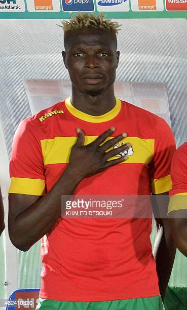 Burkina Faso's forward Aristide Bance poses ahead of the 2015 African Cup of Nations group A football match between Congo and Burkina Faso in...