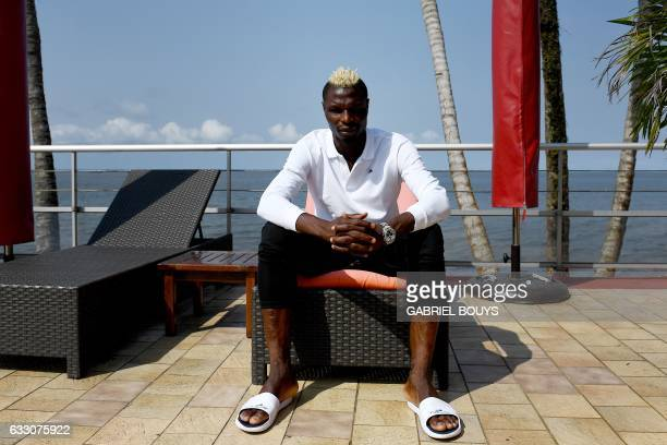 Burkina Faso's forward Aristide Bance poses during an interview with AFP in his hotel in Libreville on January 30 2017 during the 2017 Africa Cup of...