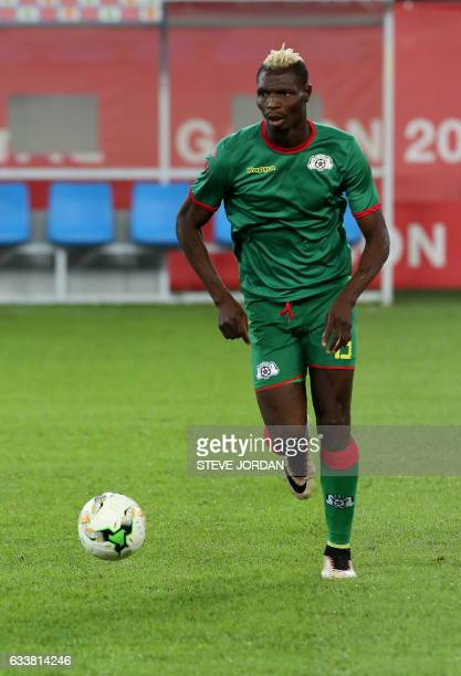 Burkina Faso's forward Aristide Bance warms up ahead of the 2017 Africa Cup of Nations third place football match between Burkina Faso and Ghana in...