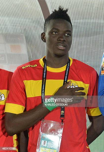 Burkina Faso's midfielder Bertrand Traore poses ahead of the 2015 African Cup of Nations group A football match between Congo and Burkina Faso in...