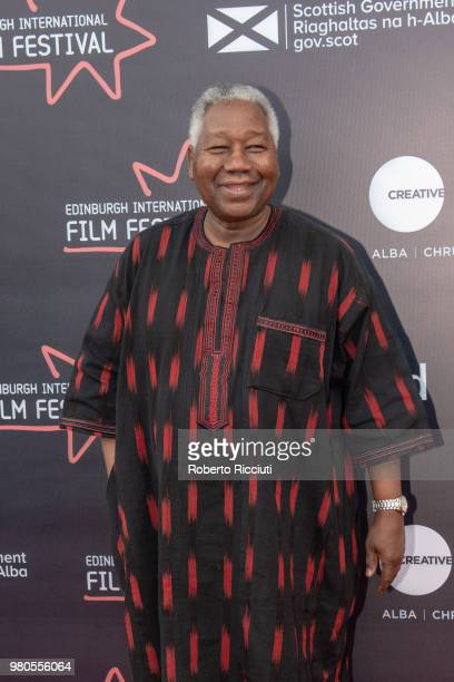 Burkinabe film director Gaston Kabore attends a photocall during the 72nd Edinburgh International Film Festival at Cineworld on June 21 2018 in...