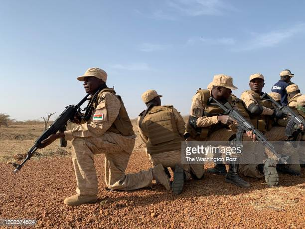 Burkinabe special forces practiced responding to attacks at a military training exercise run by the United States in Thies, Senegal, on February 19,...