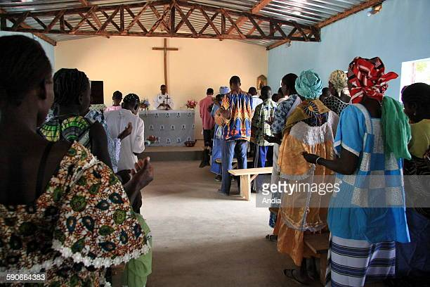 Church in a village with faithful families here for the prayer of the district of Toleha, November 2008
