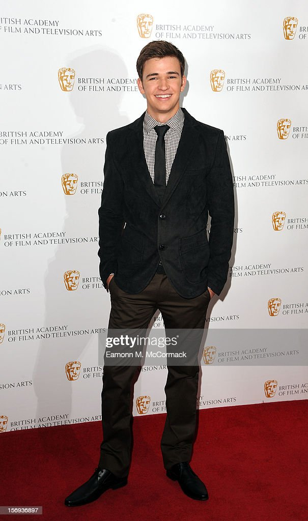 Burkley Duffield of Nickelodeon's House of Anubis attends 2012 Children's BAFTA Awards at Hilton Park Lane on November 25, 2012 in London, England.