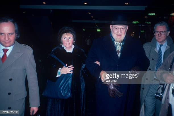 Burl Ives with his wife Dorothy Koster Paul circa 1970 New York