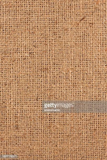 Burlap sack background.